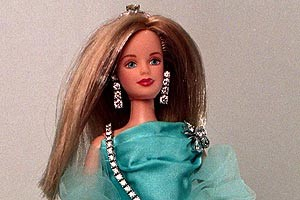 Diamond encrusted Barbie