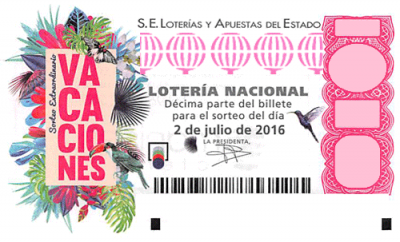 Summer El gordo Spanish lottery ticket
