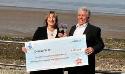 Robert and Denise Scarr lottery winners