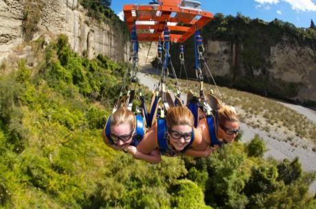 ziplining in New Zealand
