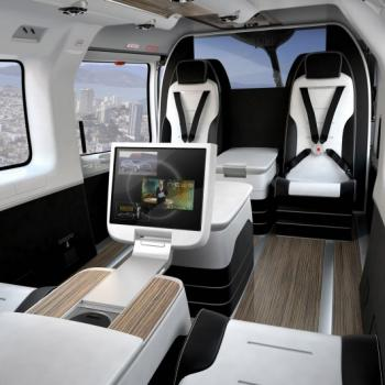 mercedes benz style helicopter interior