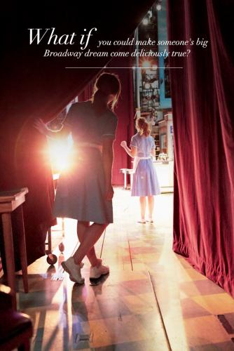 A walk on role in a Broadway musical