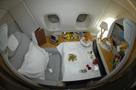 giant lottos Emirates A380 First Class