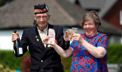 UK LOTTERY WINNERS GEORDIE AND BETTY RODICK