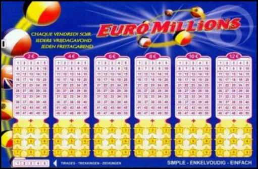 euro millions winning ticket