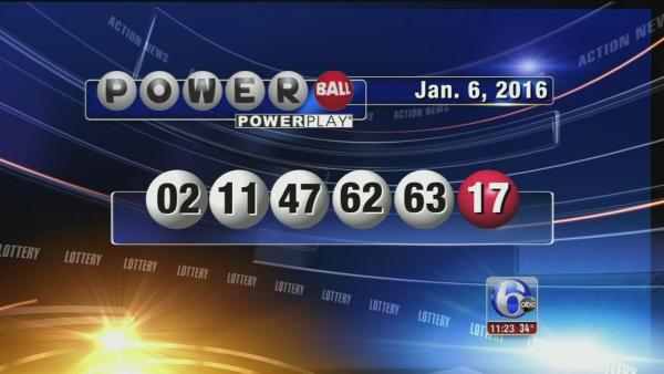 Powerball draw 6 Jan 2016, powerball numbers