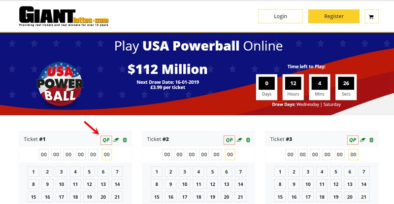 Powerball Lottery Number Generator
