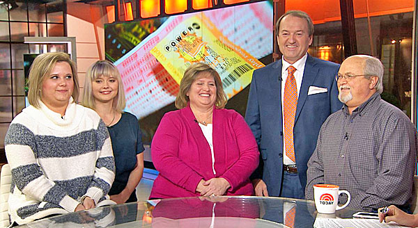 The Robinson Family - one of the record Powerball winners